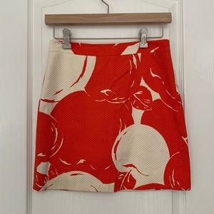 J. Crew Orange Cherry Mini Skirt Size 00